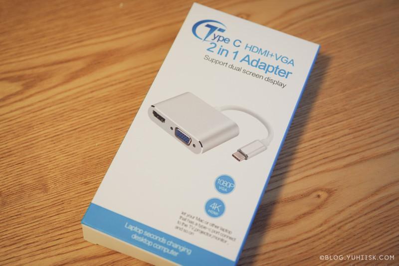 プロジェクター接続用にBoschengのHDMI+VGA 2in1 アダプターを購入してみた