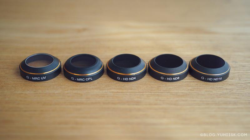 レンズフィルターそれぞれに型番があり役割が違う