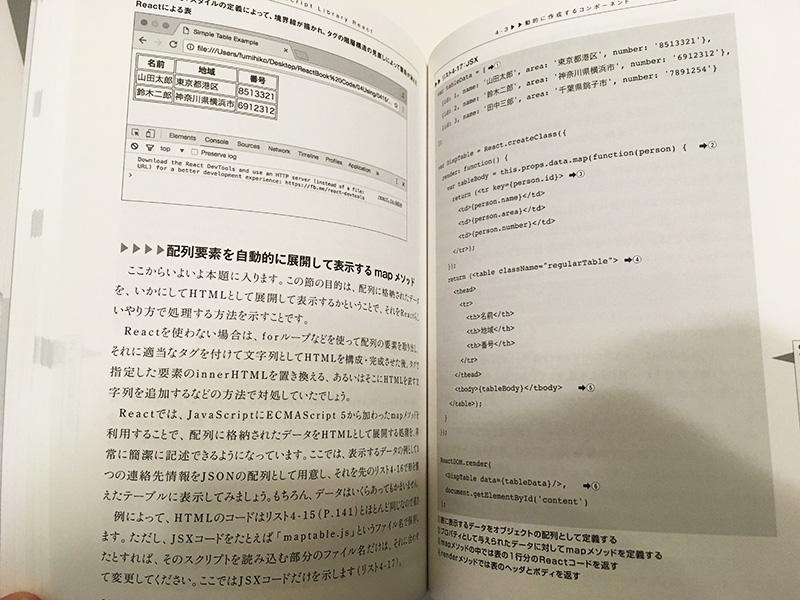 Reactでの繰り返し処理とサンプルコード